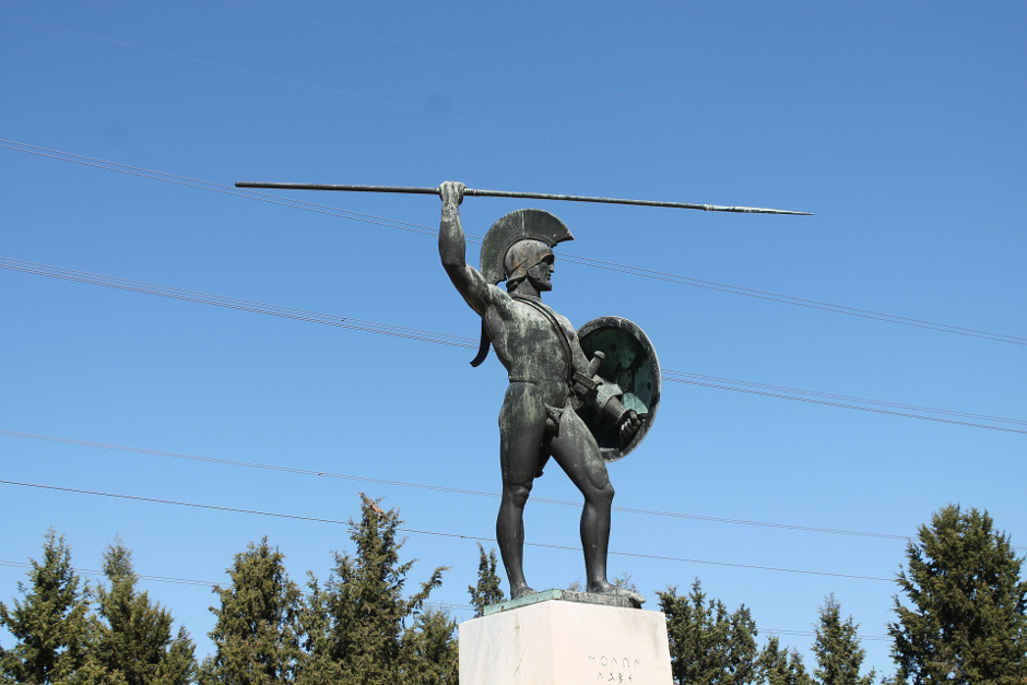 Leonidas Thermopylae Battle Statue